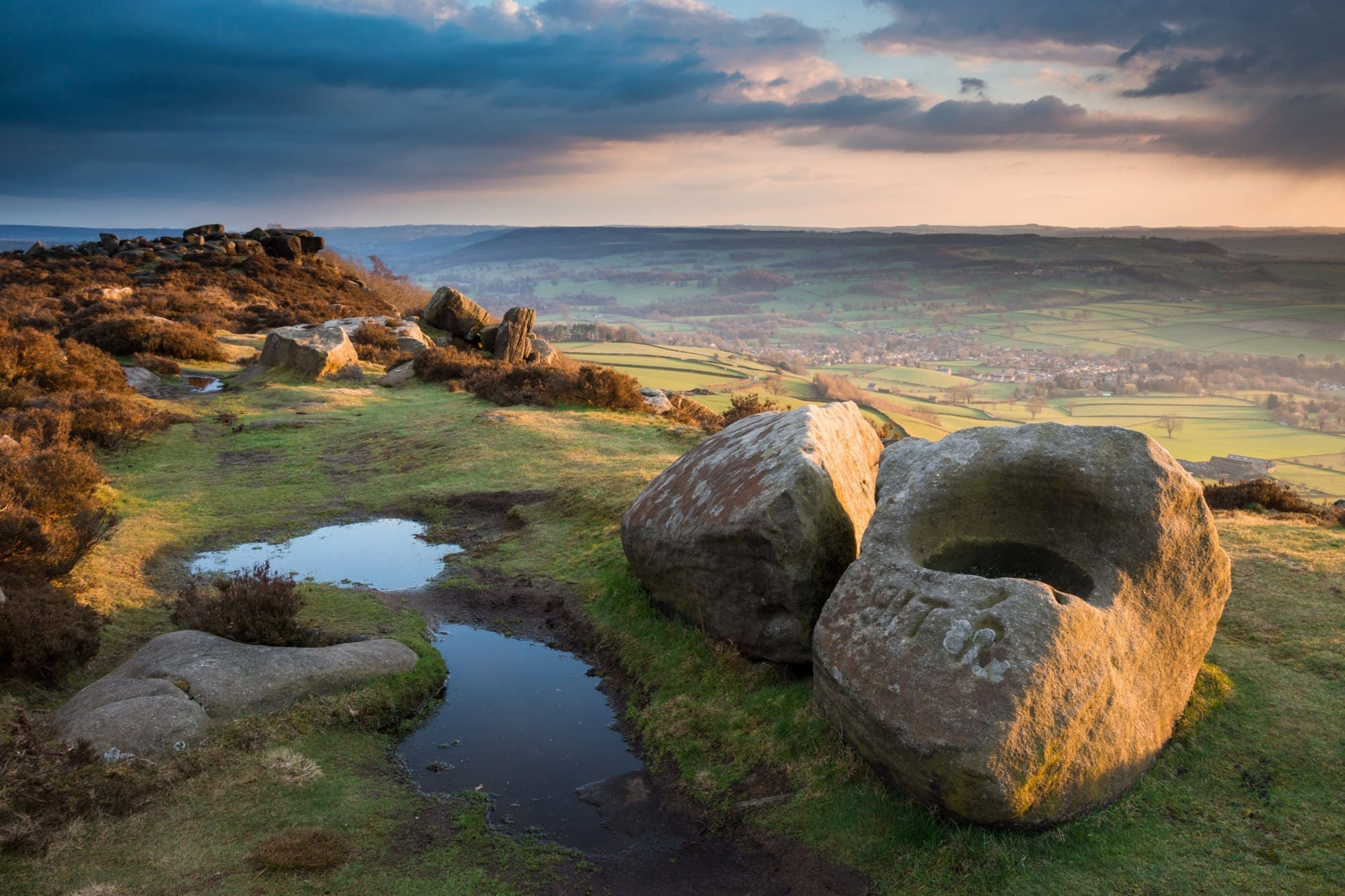 Baslow Edge Sunset - Gritstone Edges Peak District Photography Workshop