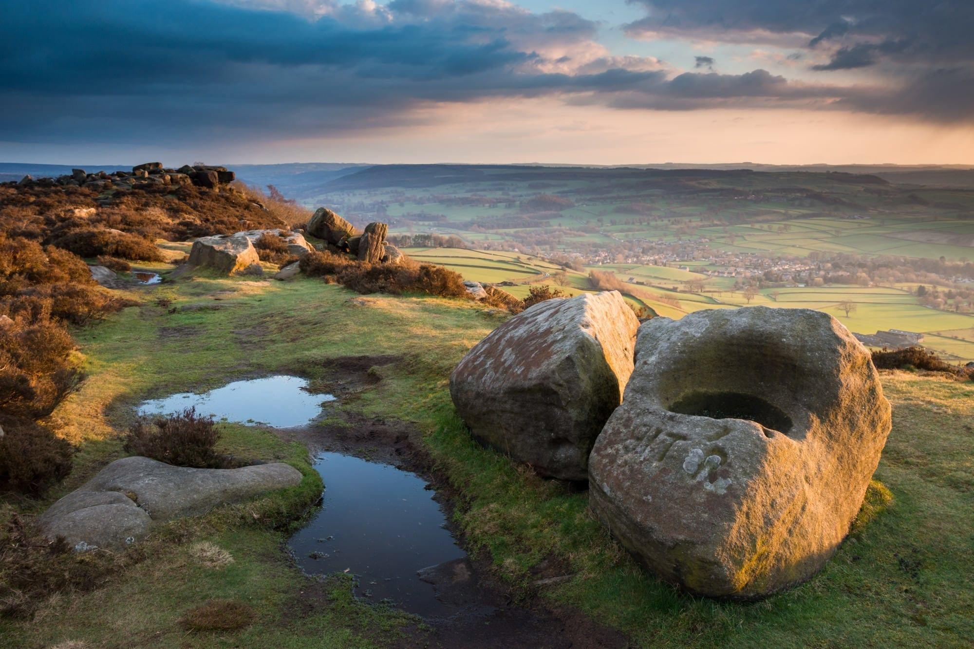 Baslow Edge Sunset - Gritstone Edges Peak District Photography Workshop