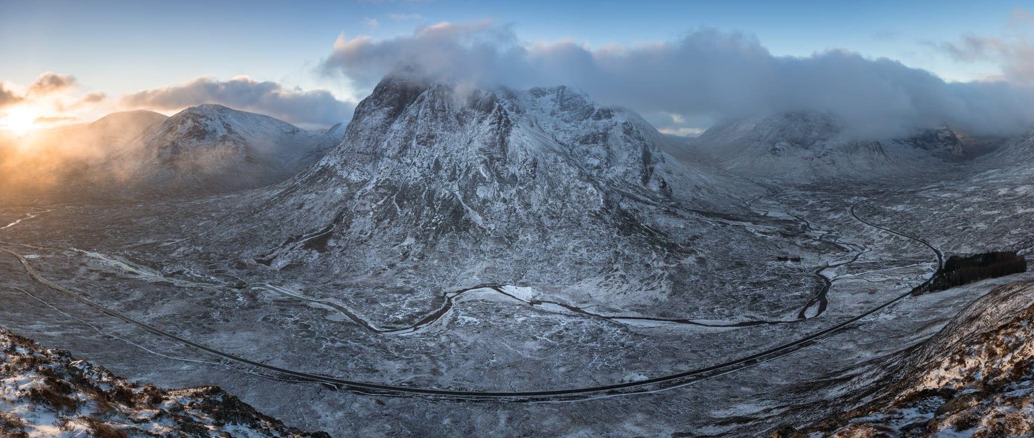 Beinn A' Chrulaiste Sunrise Panoramic - Scotland Landscape Photography