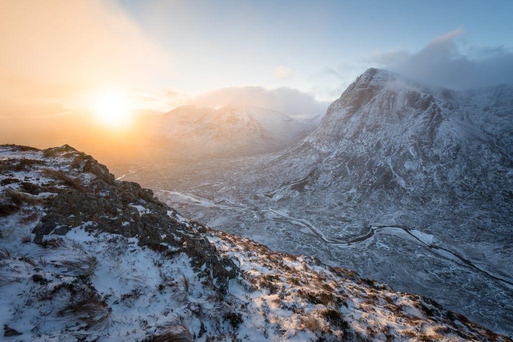 Beinn a' Chrulaiste Winter Sunrise - Scotland Landscape Photograp