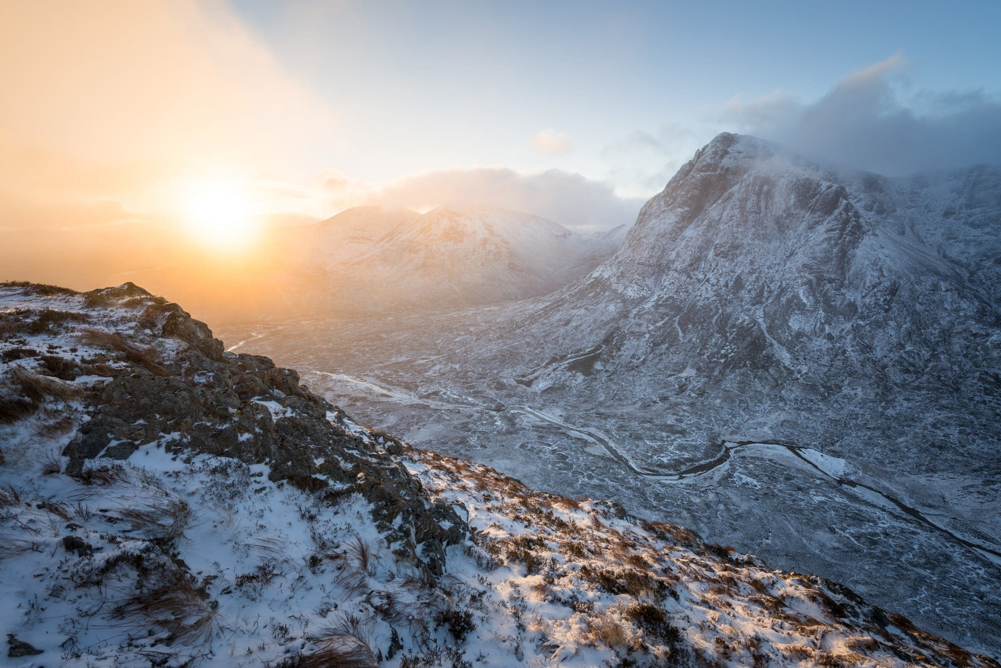 Beinn a' Chrulaiste Winter Sunrise - Scotland Landscape Photograp