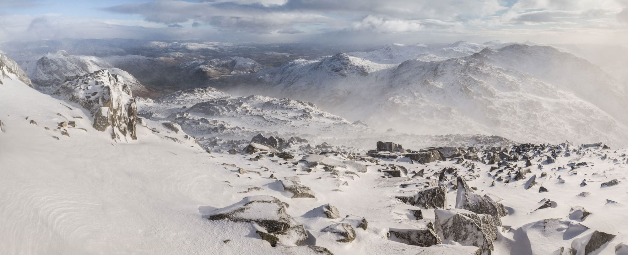 Bowfell and Crinkle Crags Winter - Lake District Photography