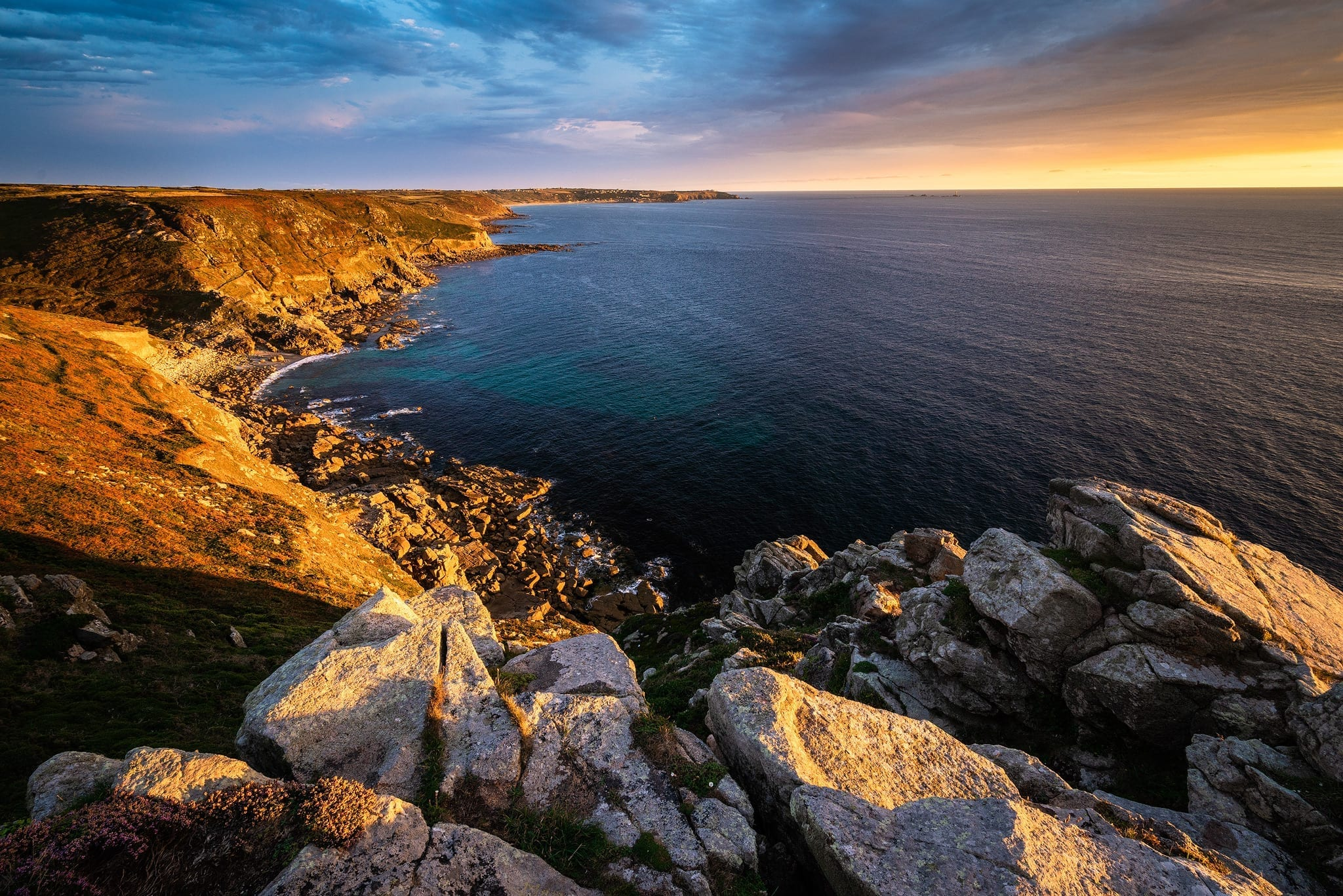 Cape Cornwall to Lands End Sunset – Cornwall Landscape Photograpraphy