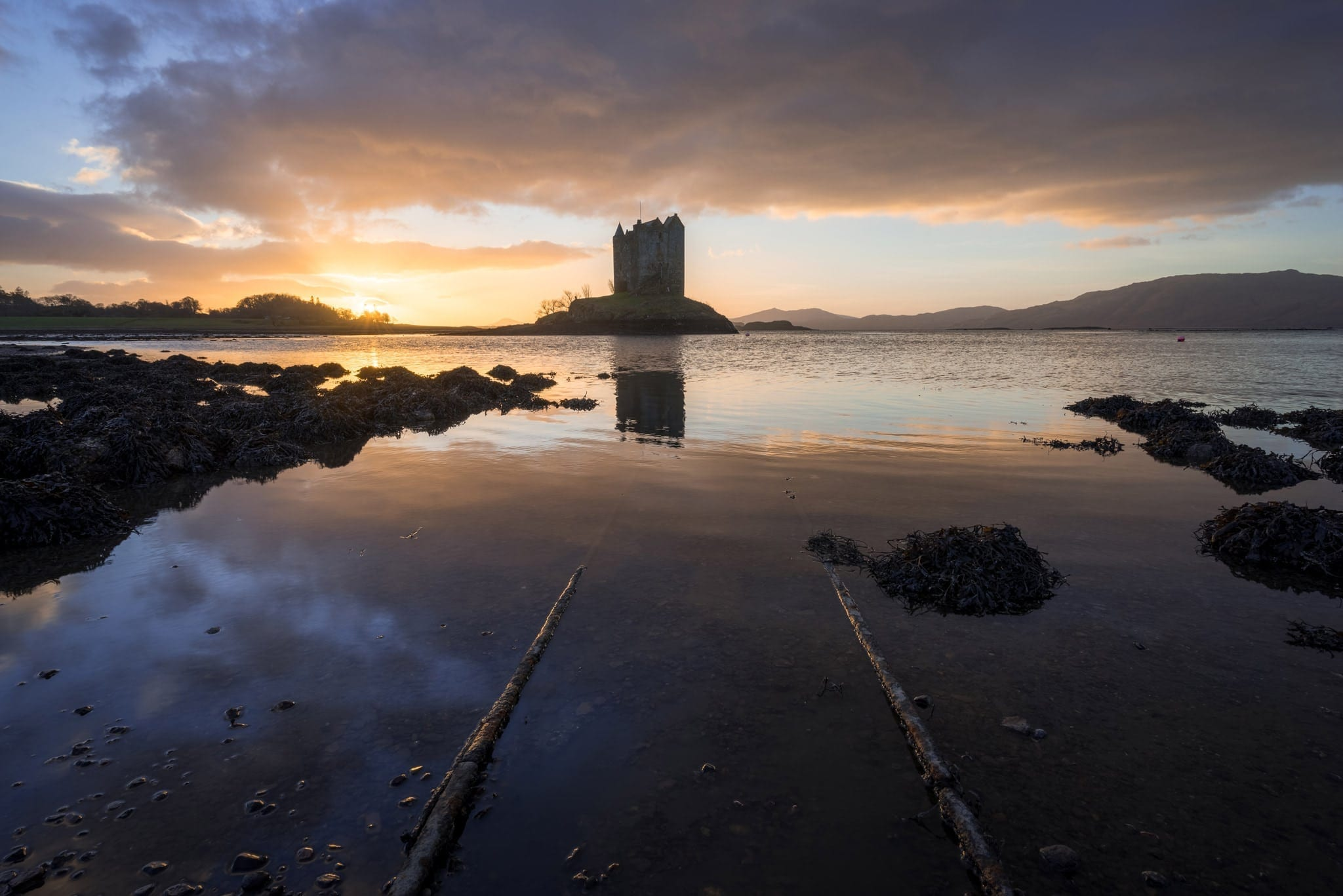 Castle Stalker Sunset - Scotland Photography