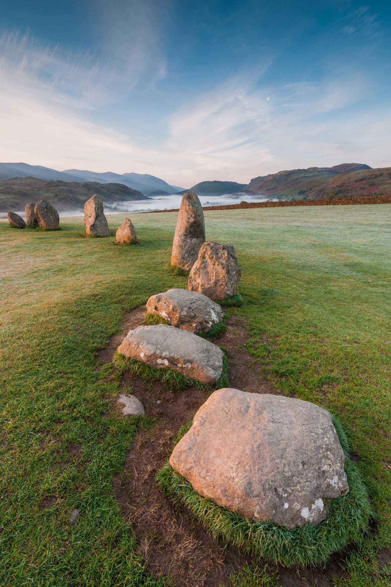 Castlerigg Stone Circle Sunrise Mist - Lake District Photography