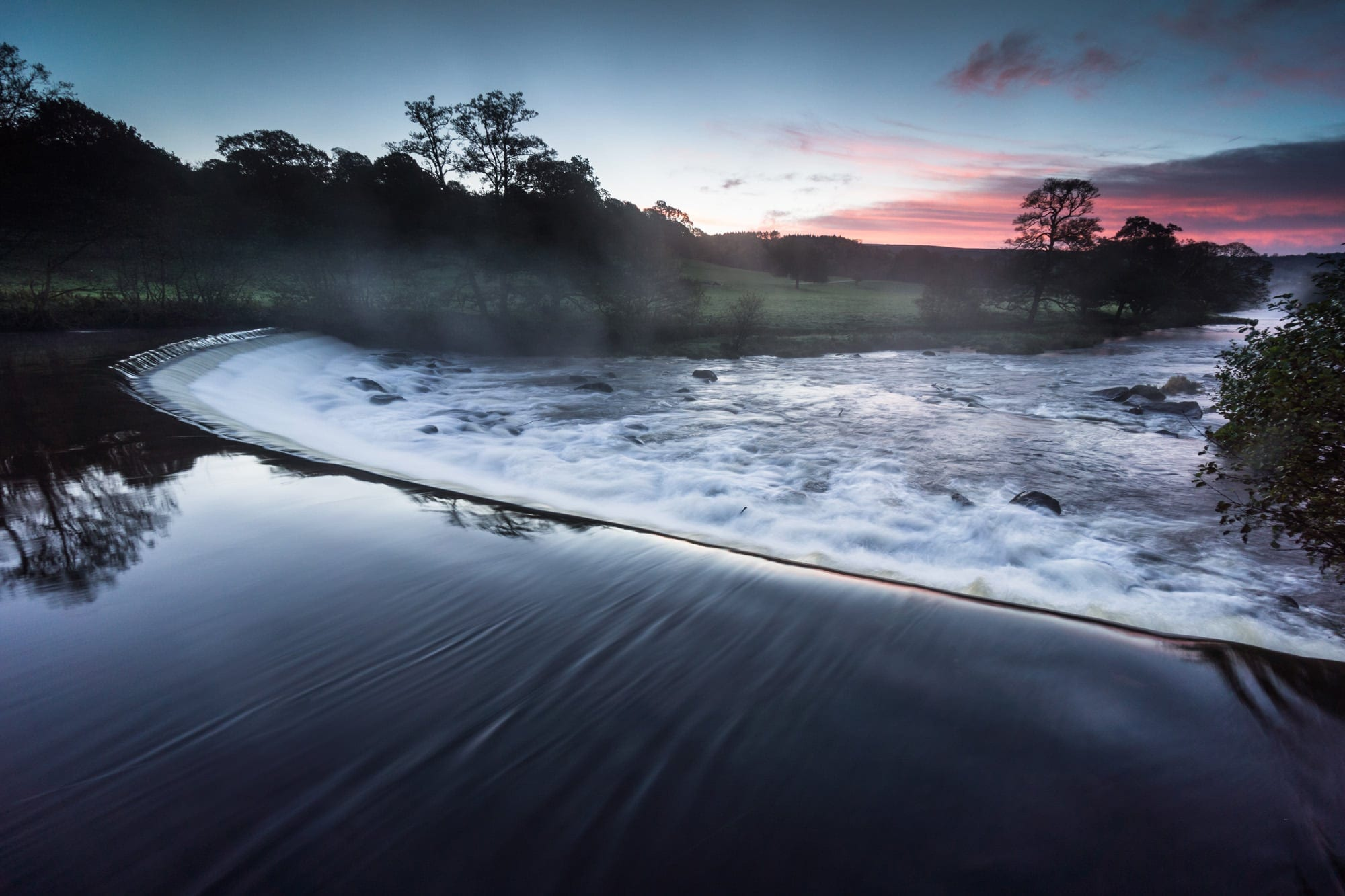 Chatsworth Weir Sunrise - Peak District Photography