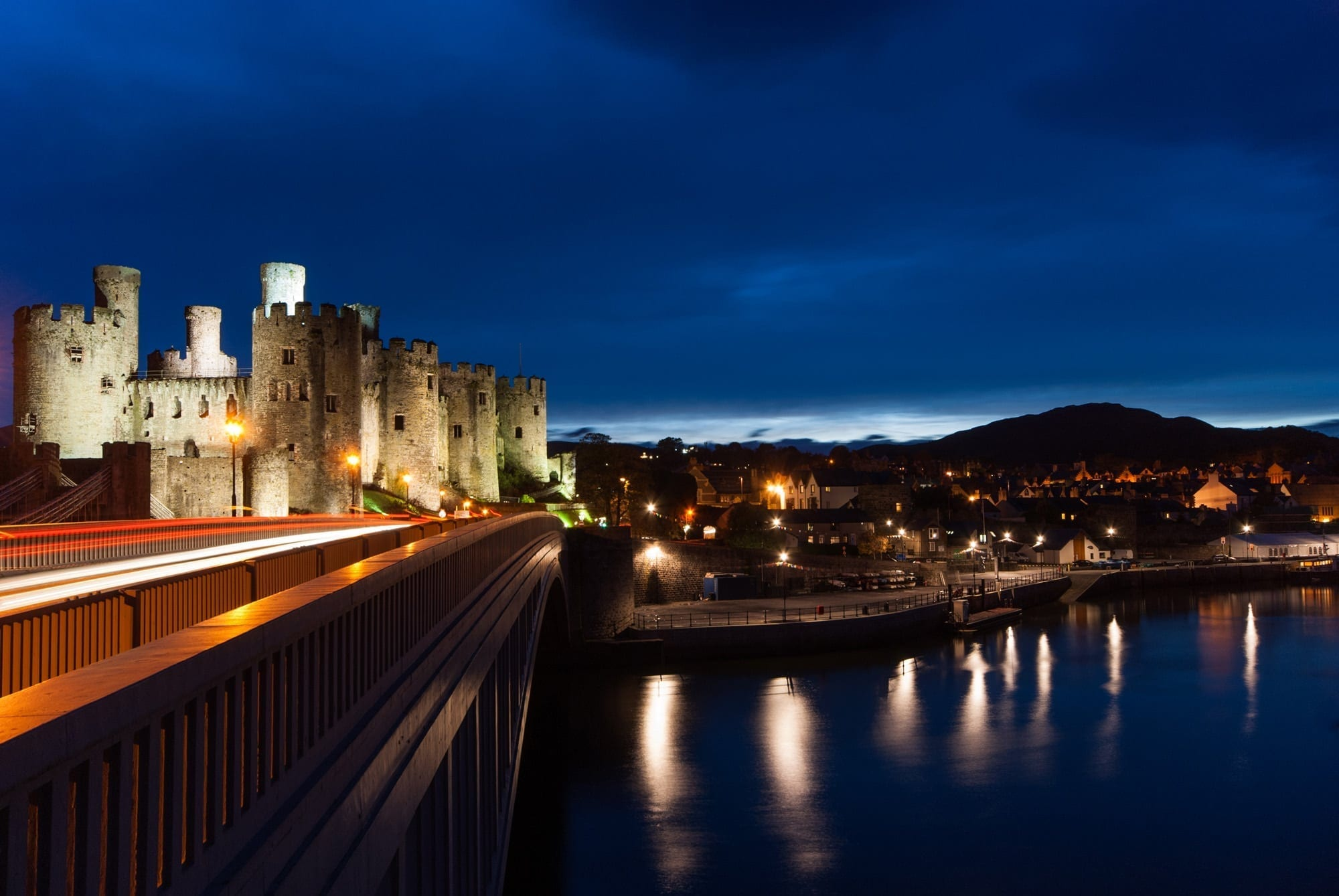 Conwy Castle Light Trails - Wales Photography