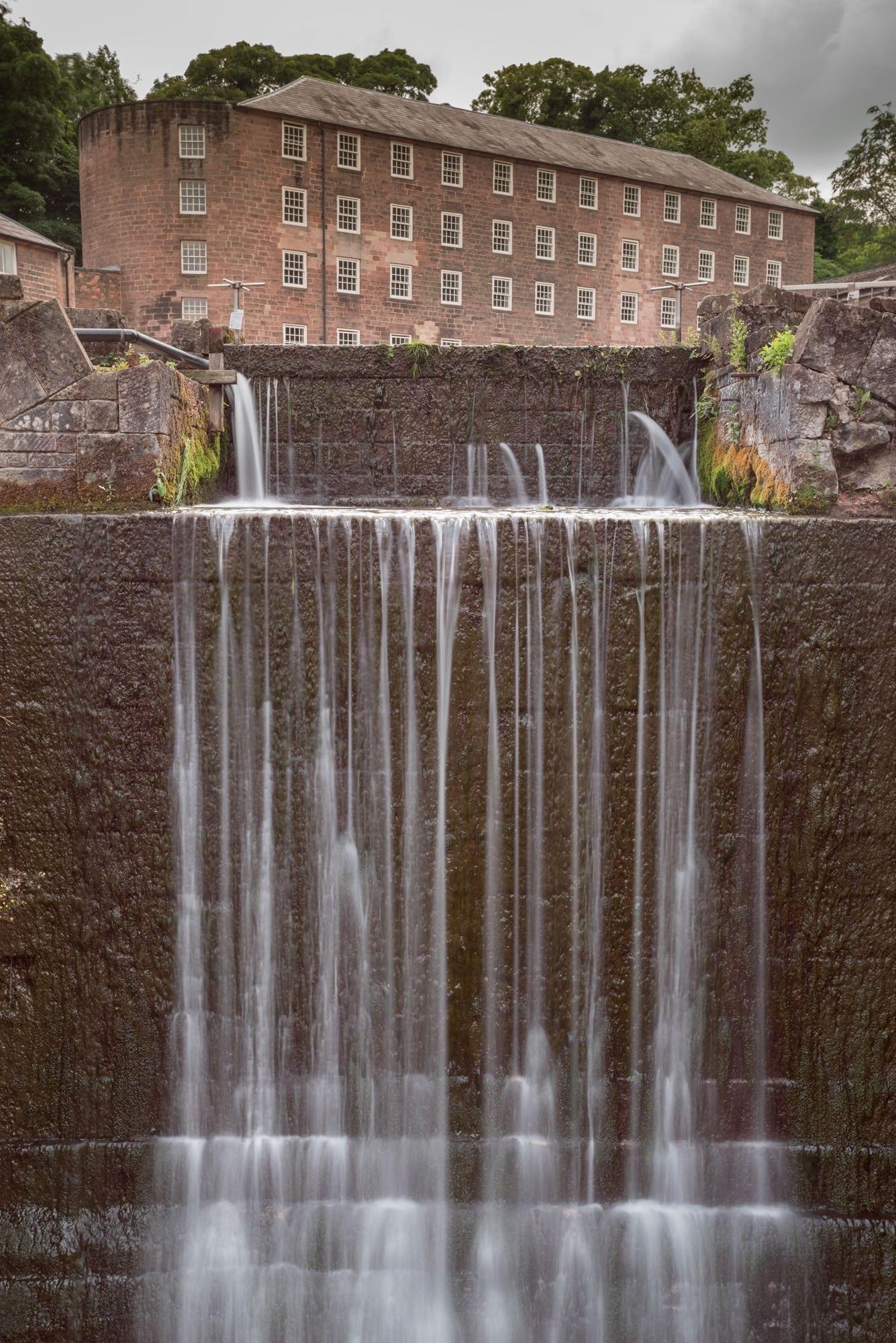 Cromford Derwent Valley Mills Waterfall - Matlock Photography Workshop