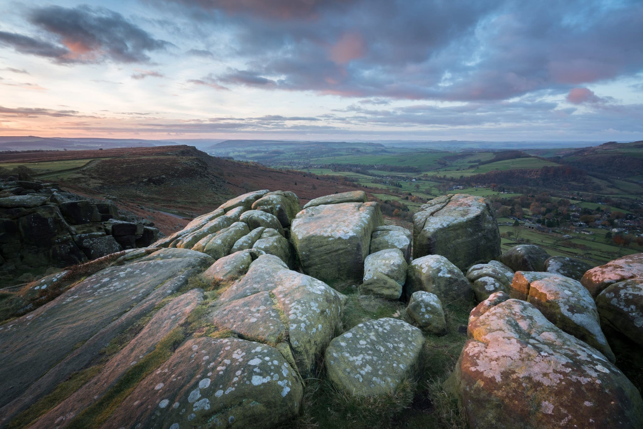 Curbar Edge Sunrise - Peak District Photography