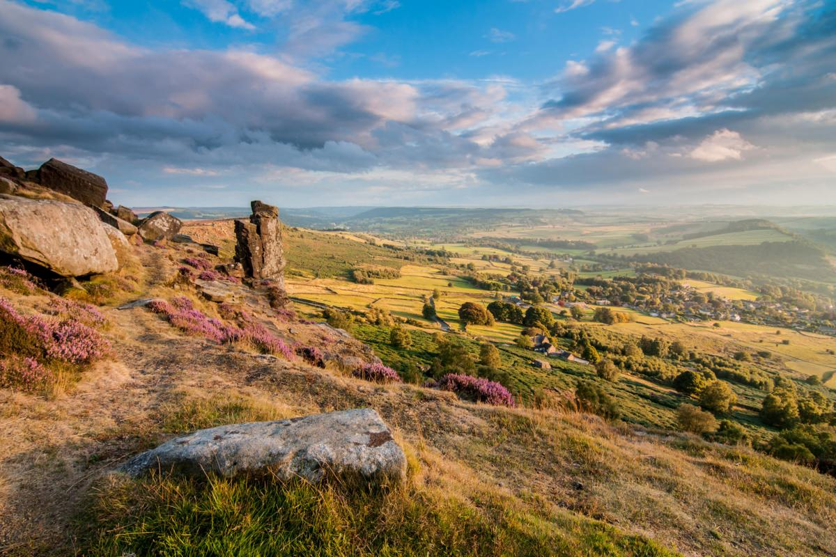 Curbar Edge Heather Sunset - Heather in the Peak District Photography Workshop