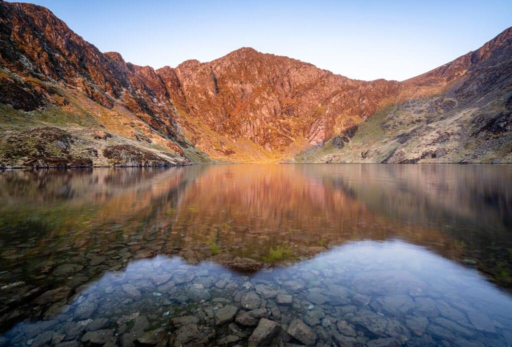 Cwm Cau Llyn Cau Sunrise - Cadair Idris - Snowdonia Landscape Ph