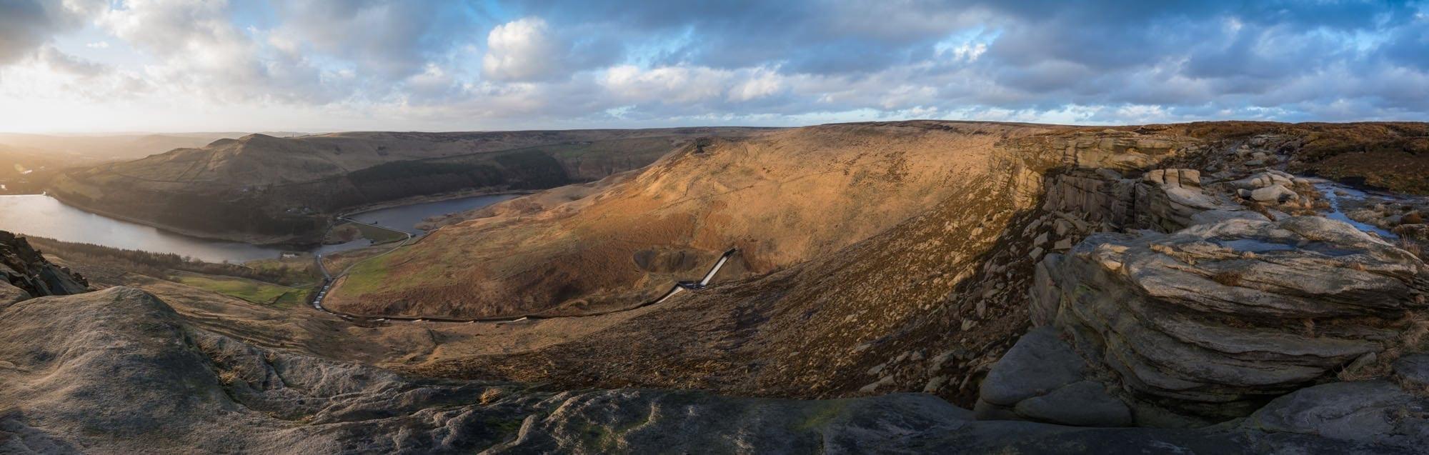 Dean Rocks Panoramic - Stunning Saddleworth Photography Workshop