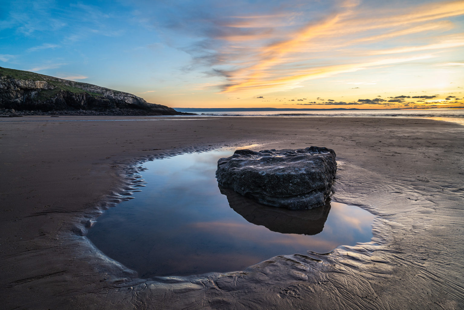 Dunraven Bay Sunset - Southerndown Beach – Wales Landscape Photography