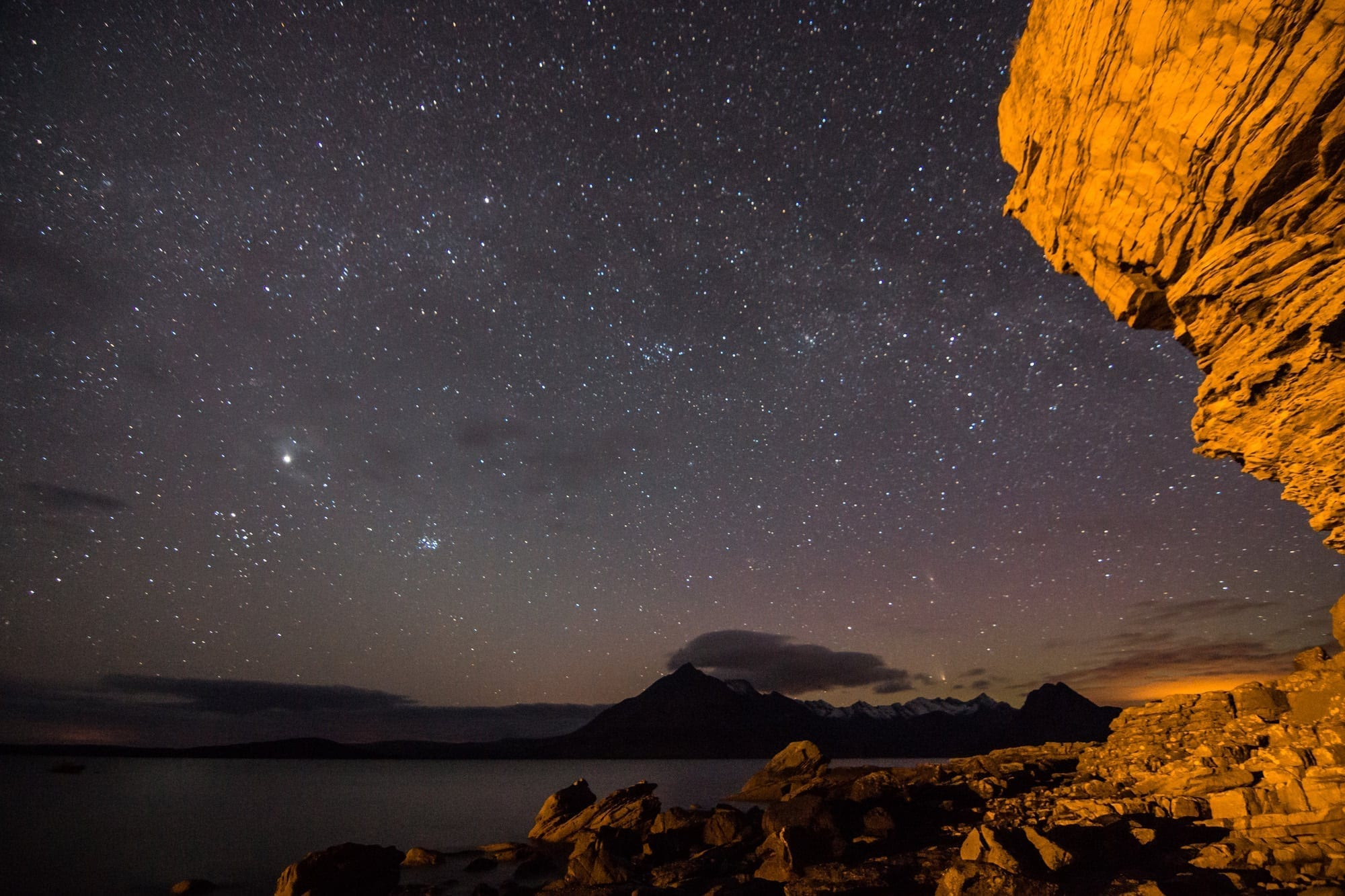 Elgol Stars and the Night Sky - Scotland Photography Workshops