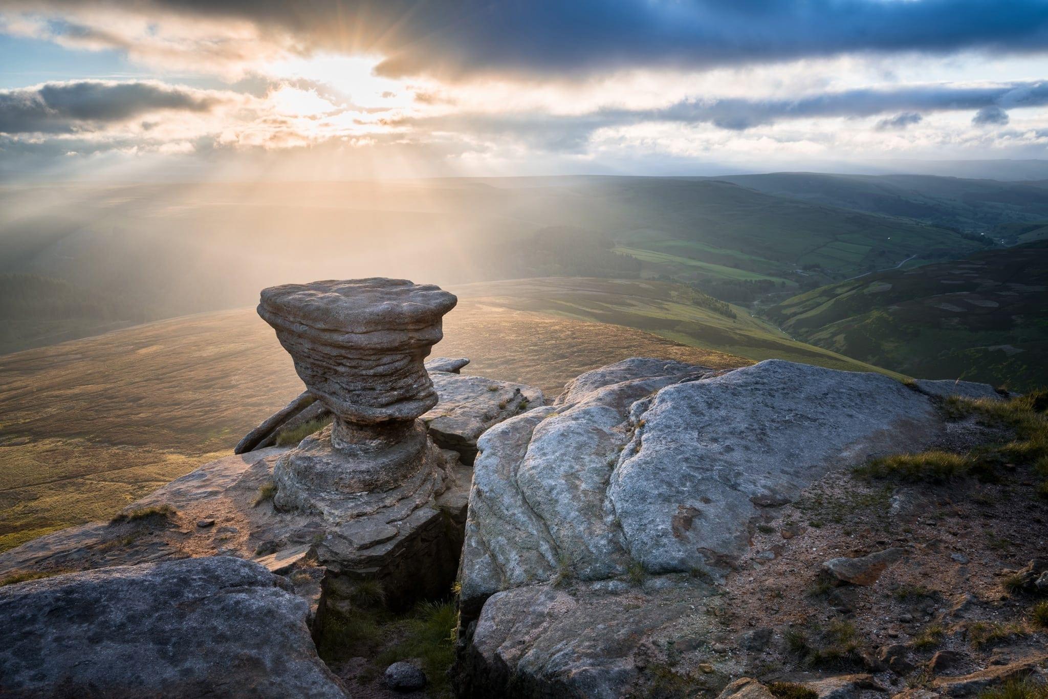 Fairbrook Naze Sunrise - Peak District Photography