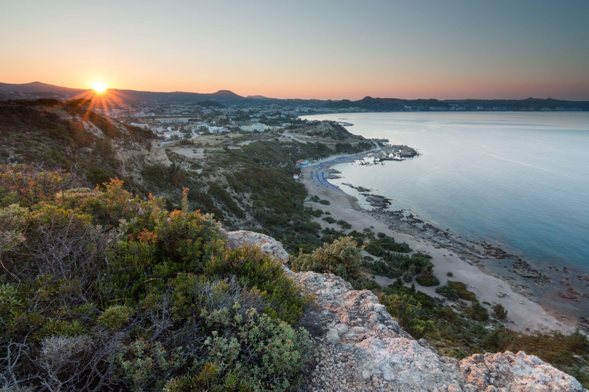 Faliraki Cliff Sunset - Greece Photography