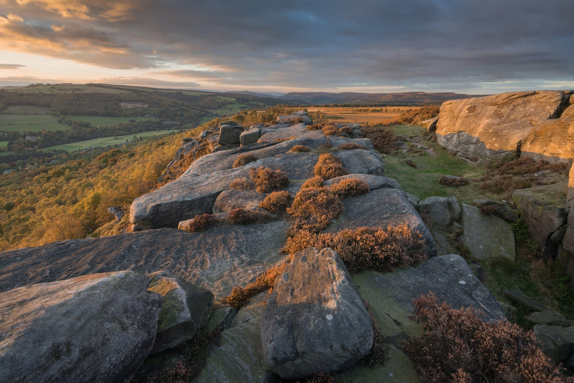 Froggatt Edge Sunset - Autumn in the Peak District Photography Workshop