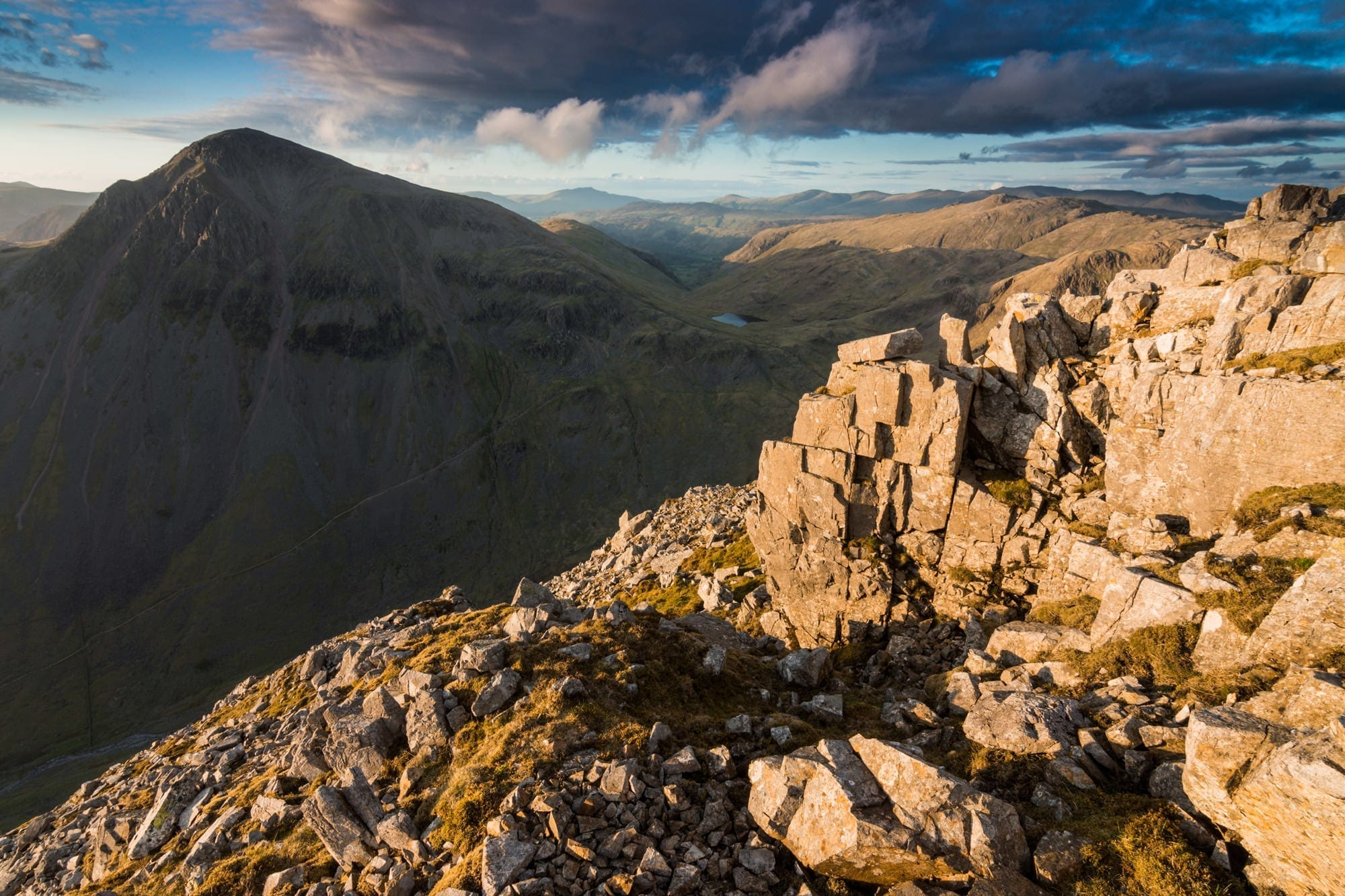 Great Gable from Lingmell at Sunset - Lake District Photography