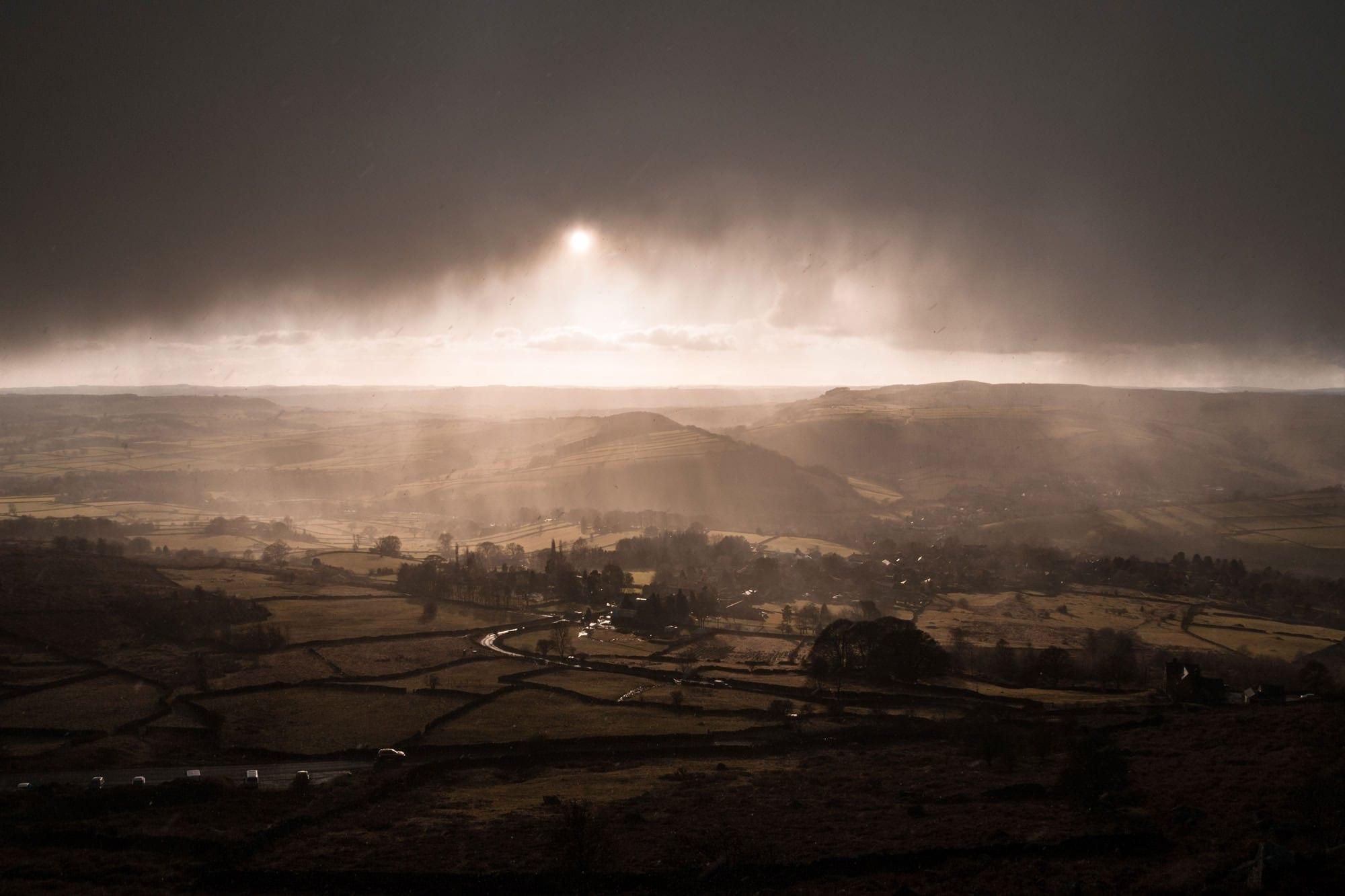Hell Raining Down - Peak District Photography