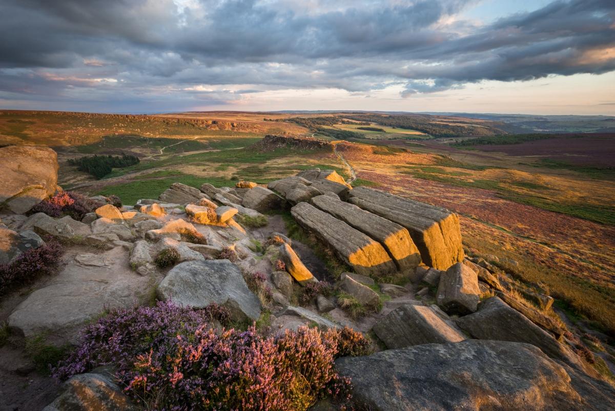 Higger Tor Kit Kat Stones Sunset-  Peak District Photography