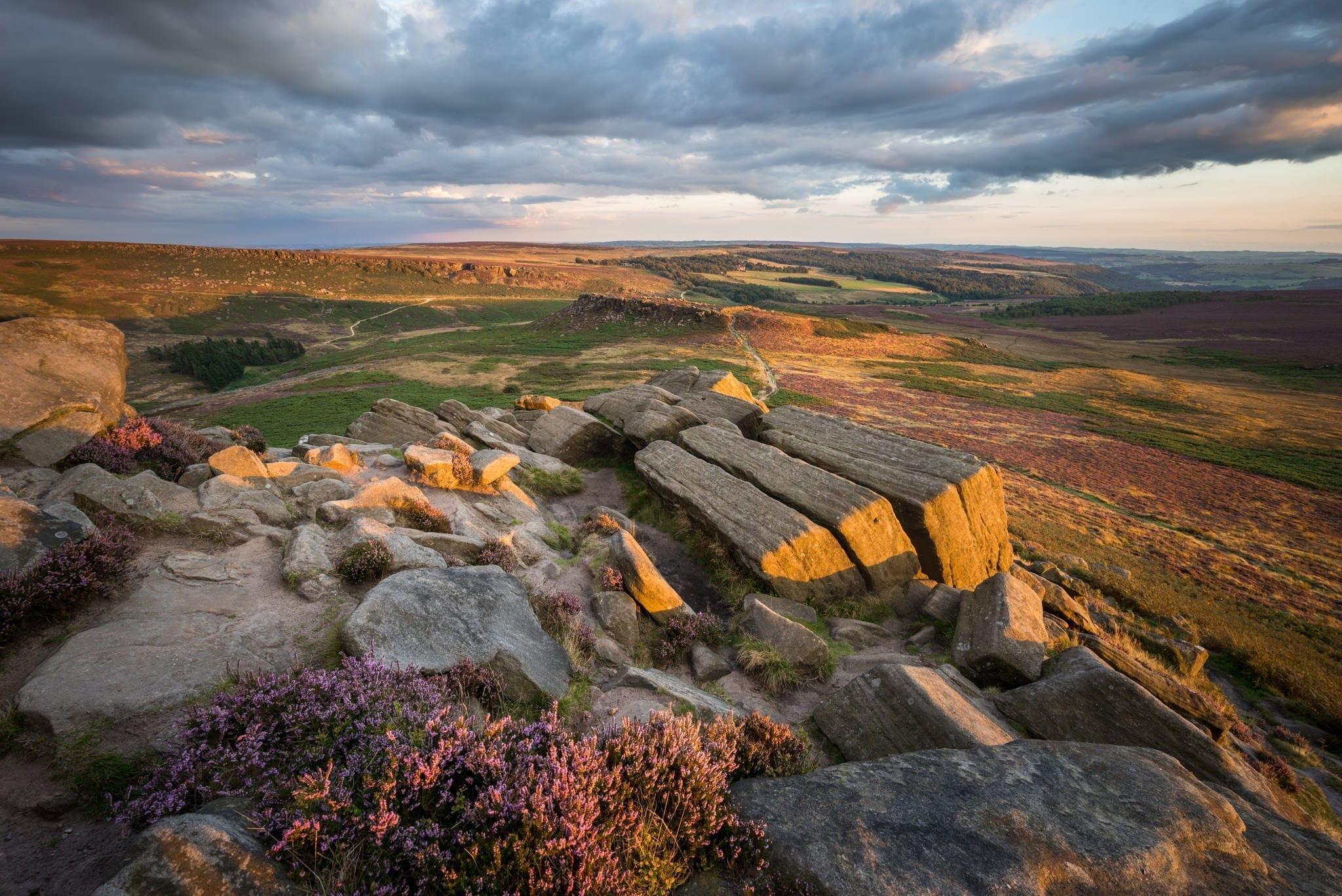 Higger Tor Kit Kat Stones Sunset -  Gritstone Edges Peak District Photography Workshop