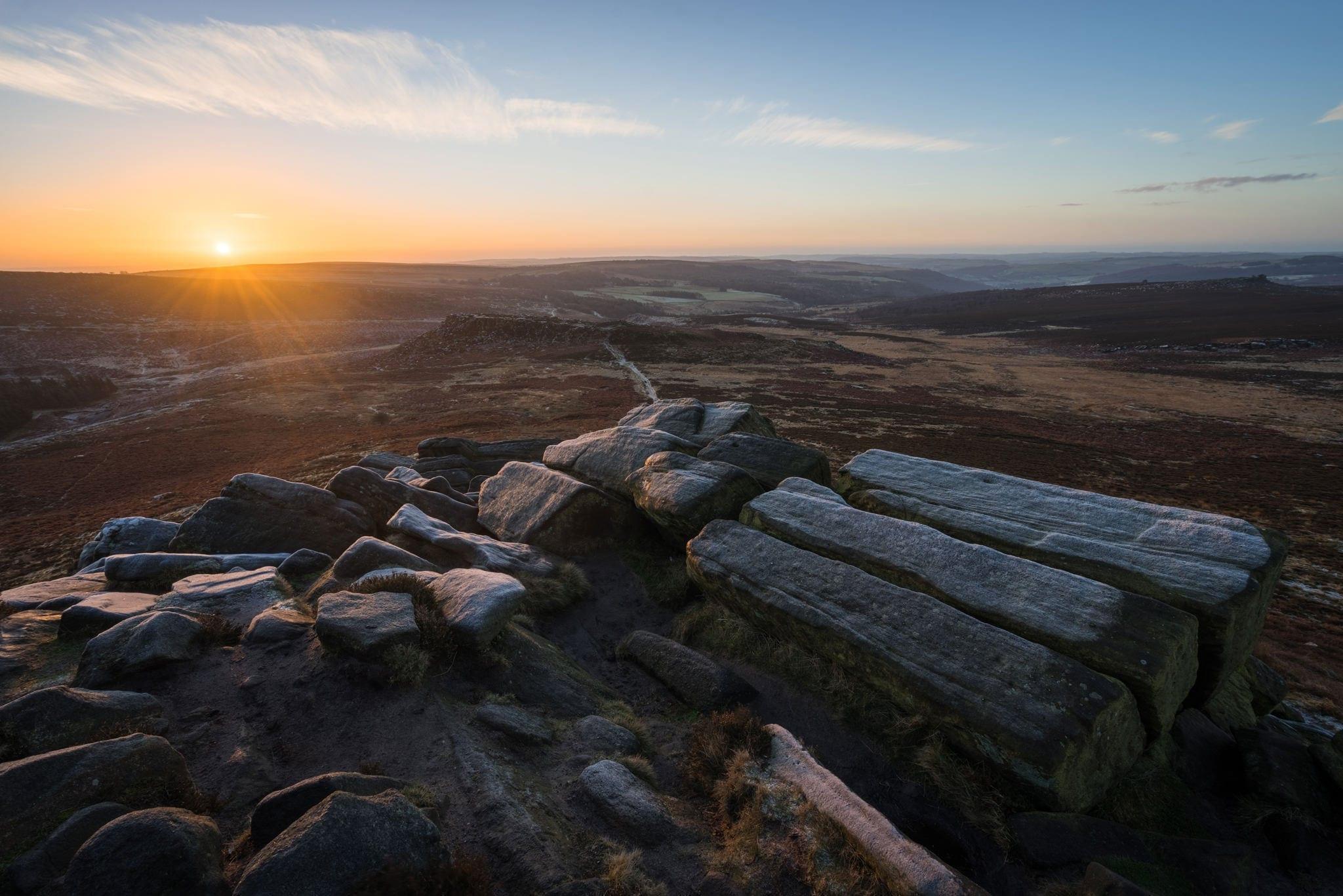 Higger Tor Sunrise - Peak District Photography Winter Workshop