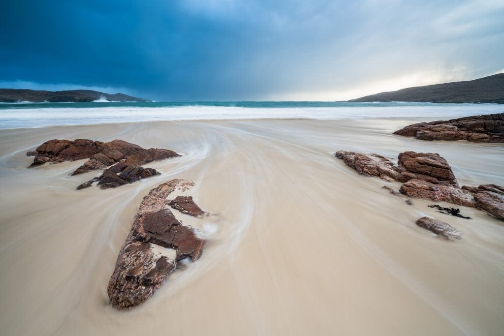 Hushinish Sunset Long Exposure - Isle of Harris Photography