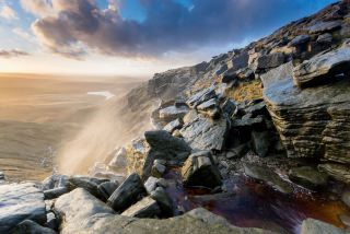 Kinder Downfall Sunset - Peak District Photography