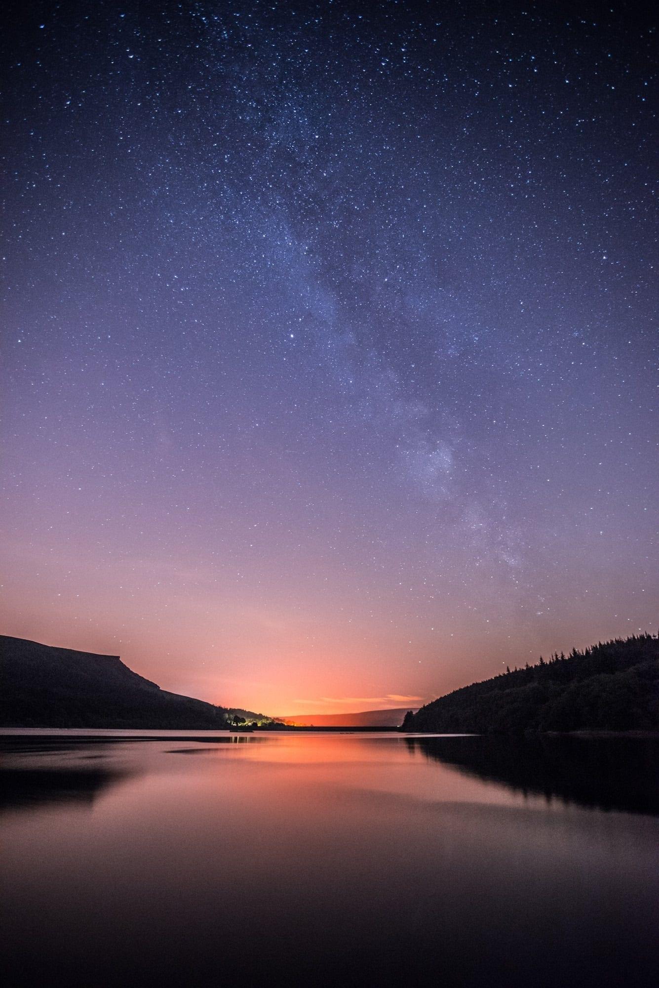 Ladybower Milky Way - Peak District Photography