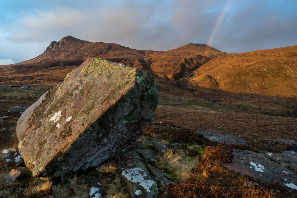 Leaning Boulder - Scotland Landscape Photography