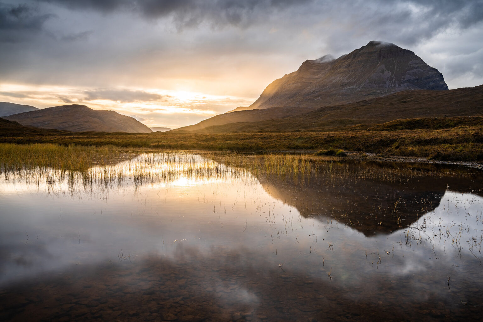 Loch Bharranch and Liathach Sunset – Scotland Landscape Photography