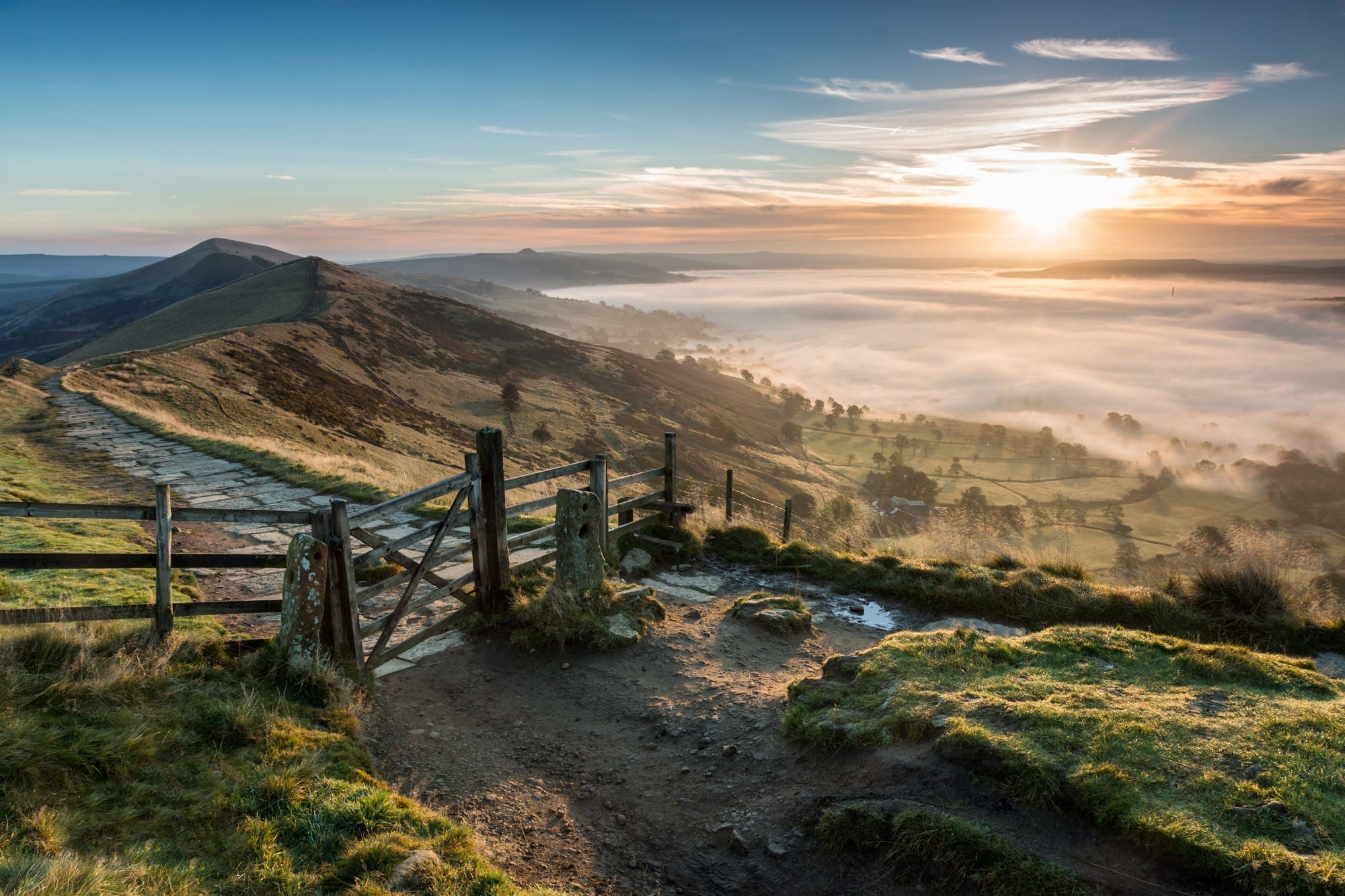Mam Tor Gate Sunrise - Peak District Photography