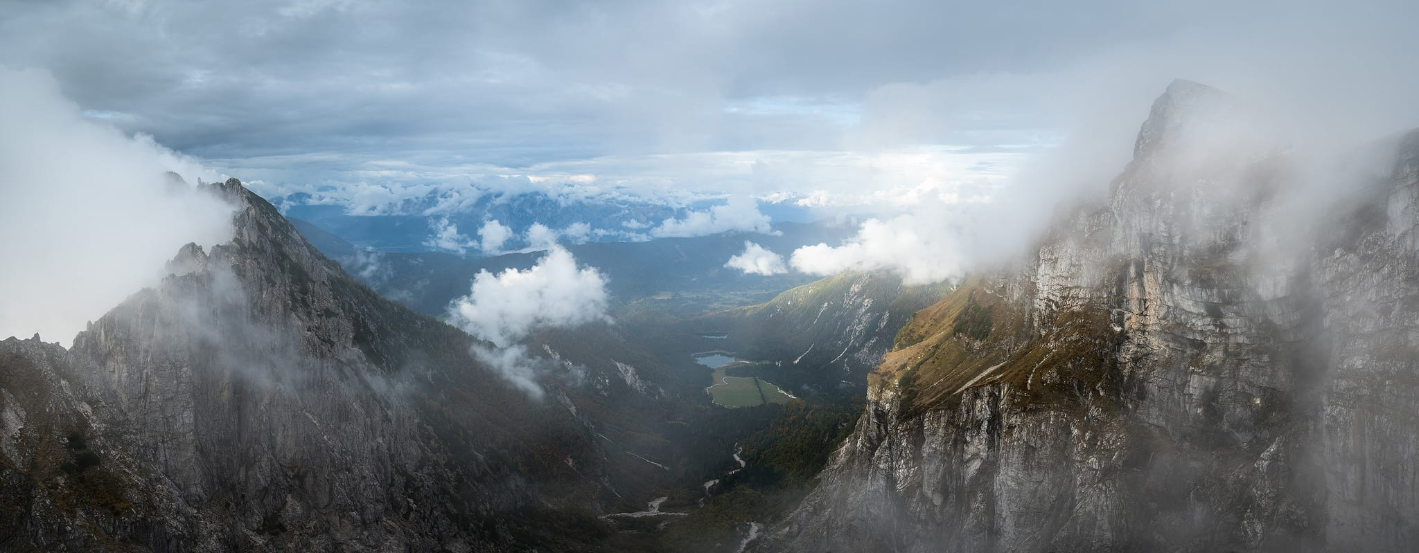 Mangart Saddle Panoramic - Slovenia Photography