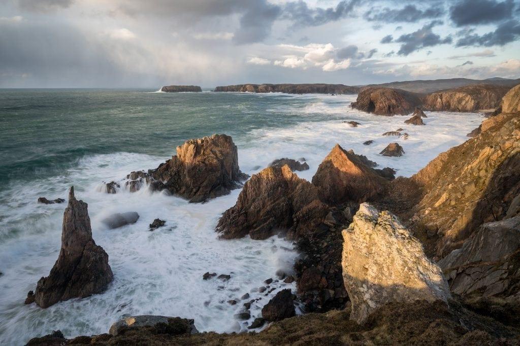 Mangersta Sea Stacks Sunset - Isle of Lewis Photography