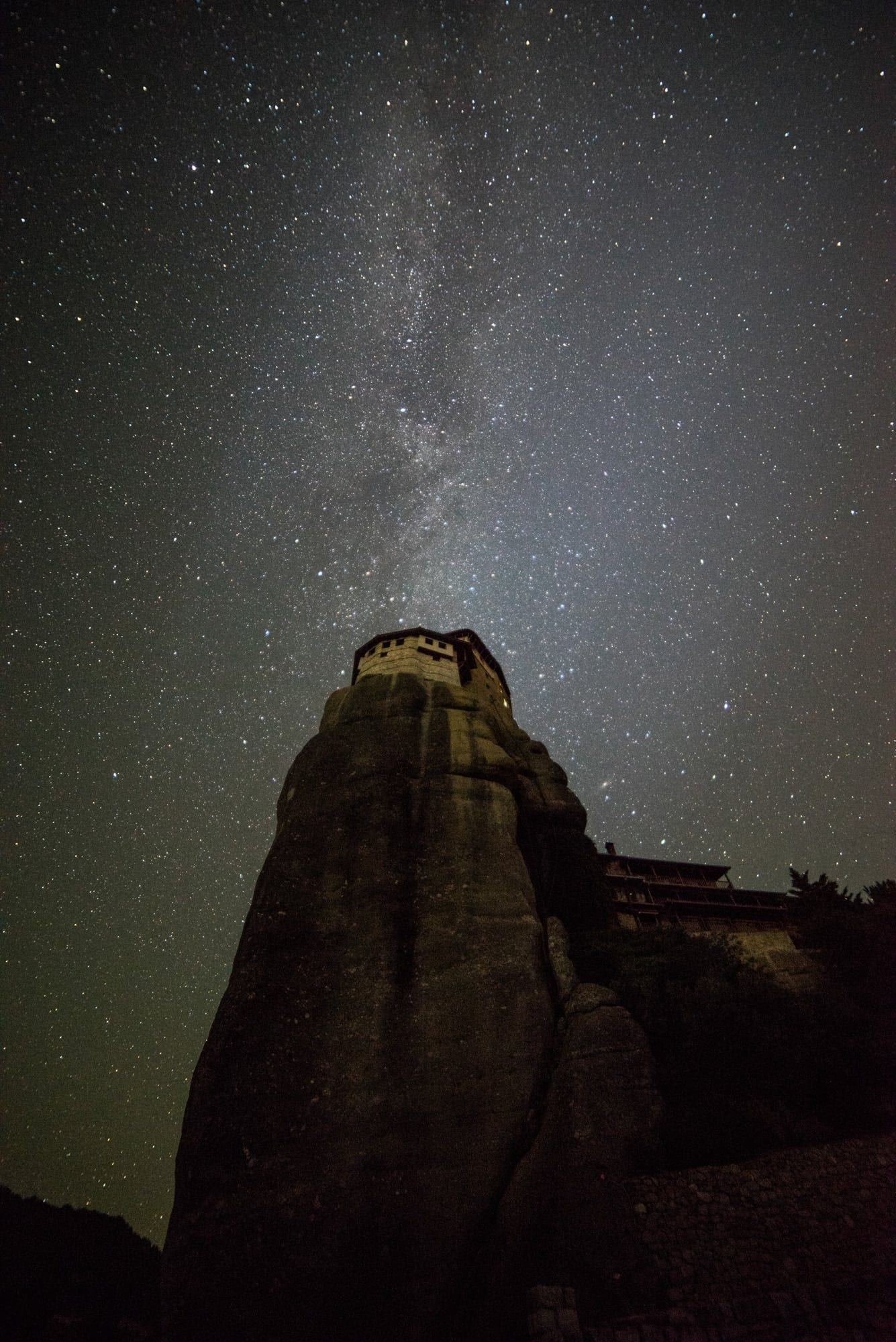 Rousanou Monastery Meteora Milky Way - Greece Photography