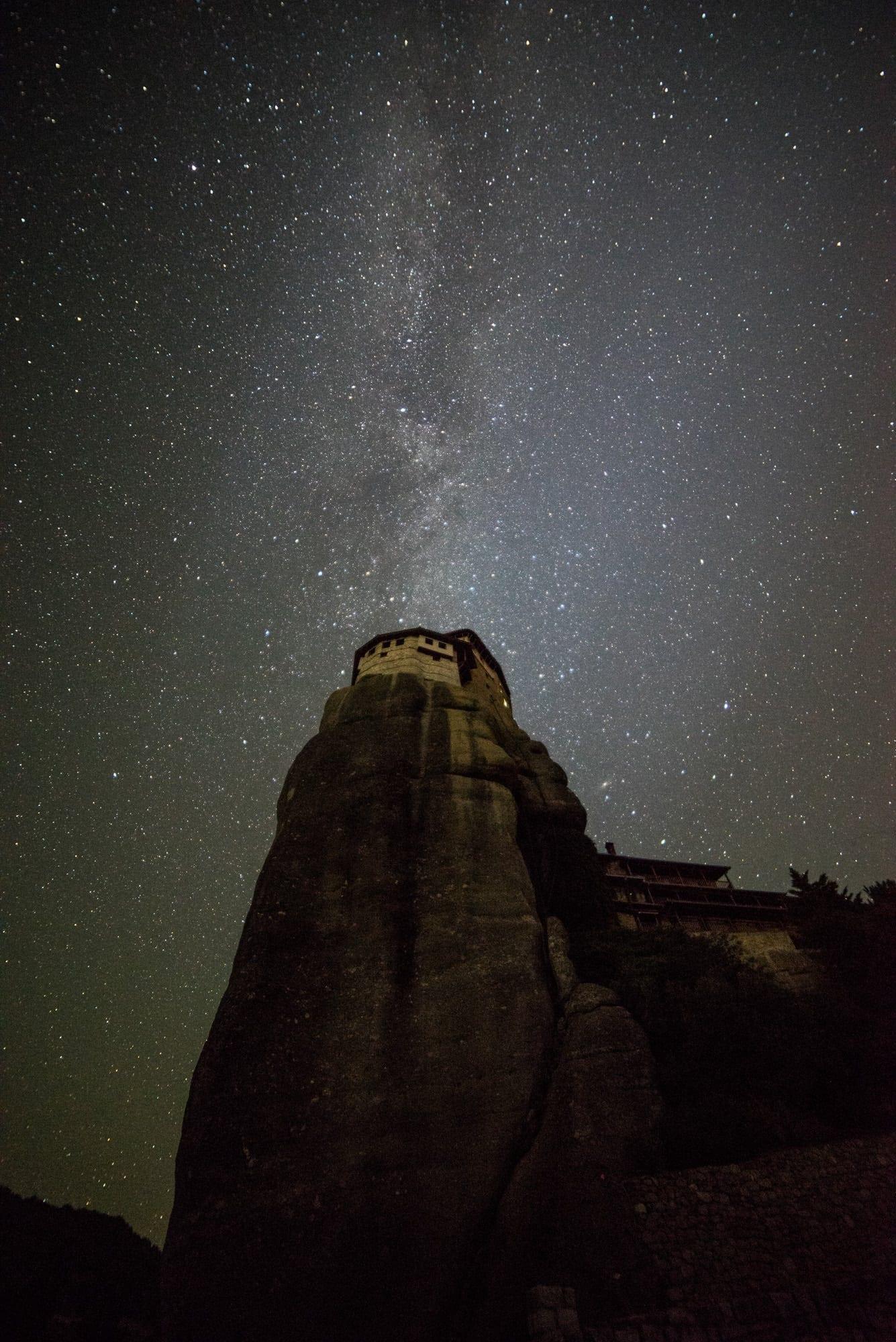 Rousanou Monastery Meteora Milky Way - Greece Photography