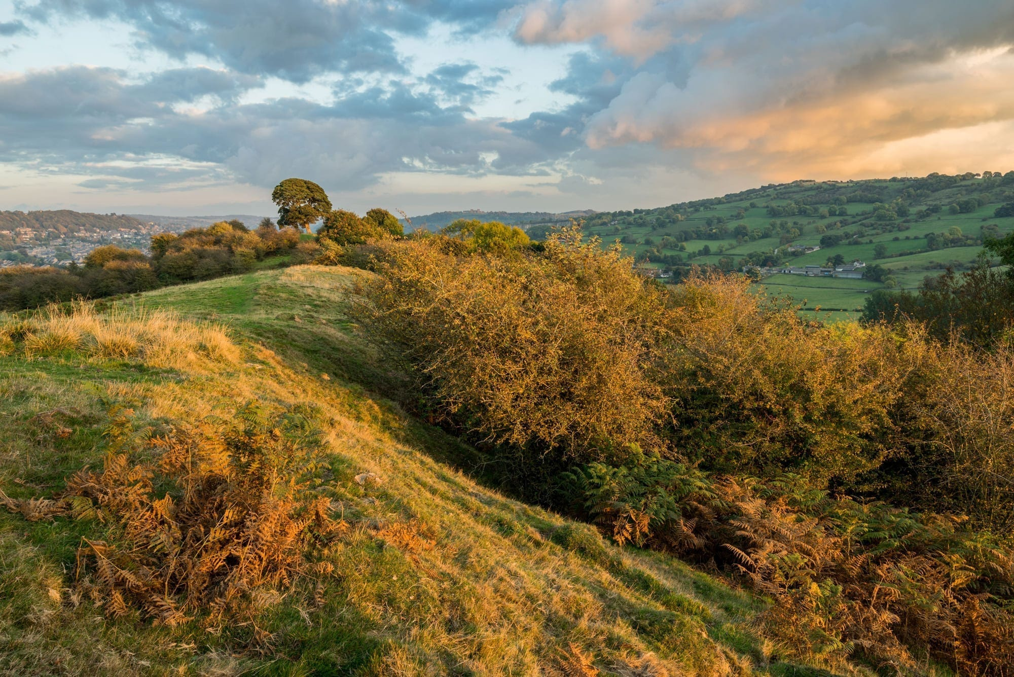 Oker Hill Sunset - Peak District Photography