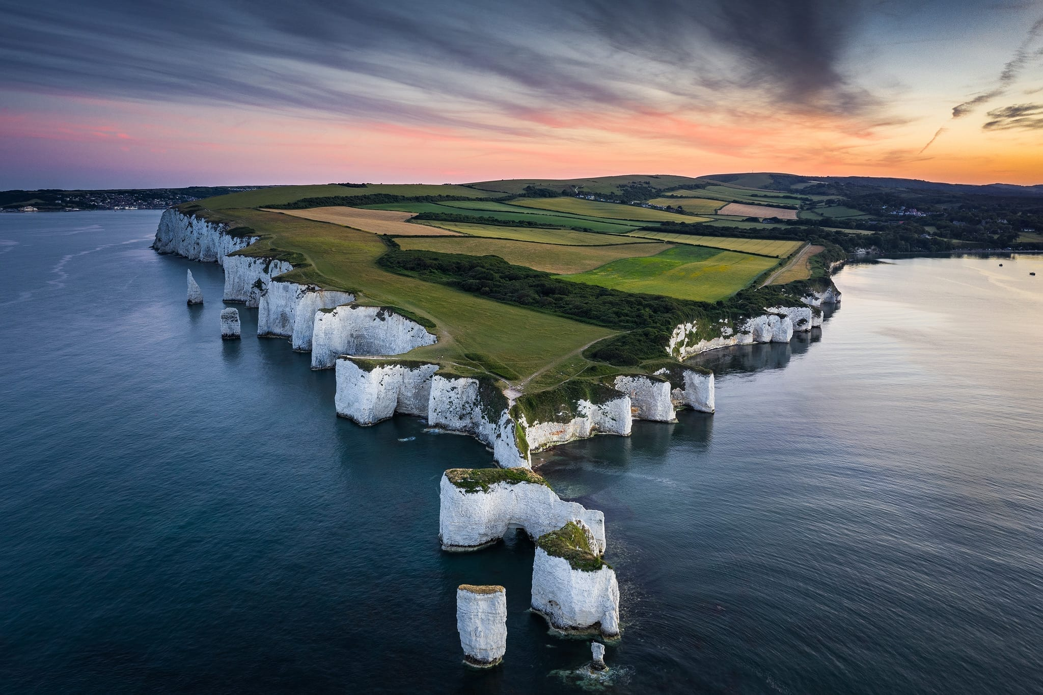 Old Harry Rocks Aerial – Dorset Landscape Photography