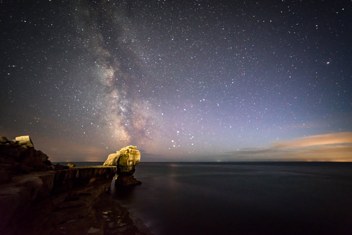 Pulpit Rock Milky Way - Dorset Photography