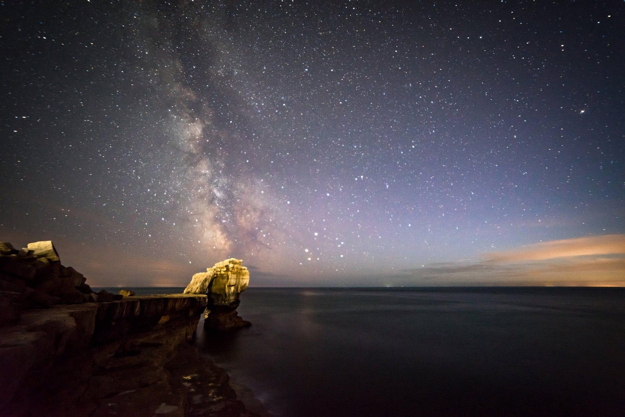 Pulpit Rock Milky Way - Dorset Photography