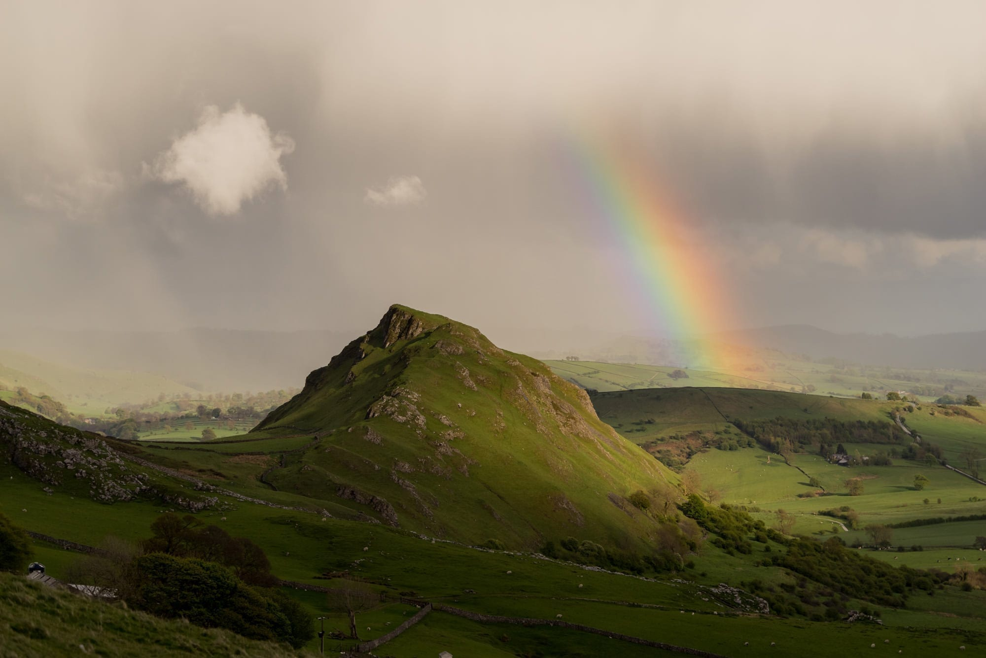 Rainbow Over Chrome Hill - Chrome and Parkhouse Hill Photographic Walk Photography Workshop