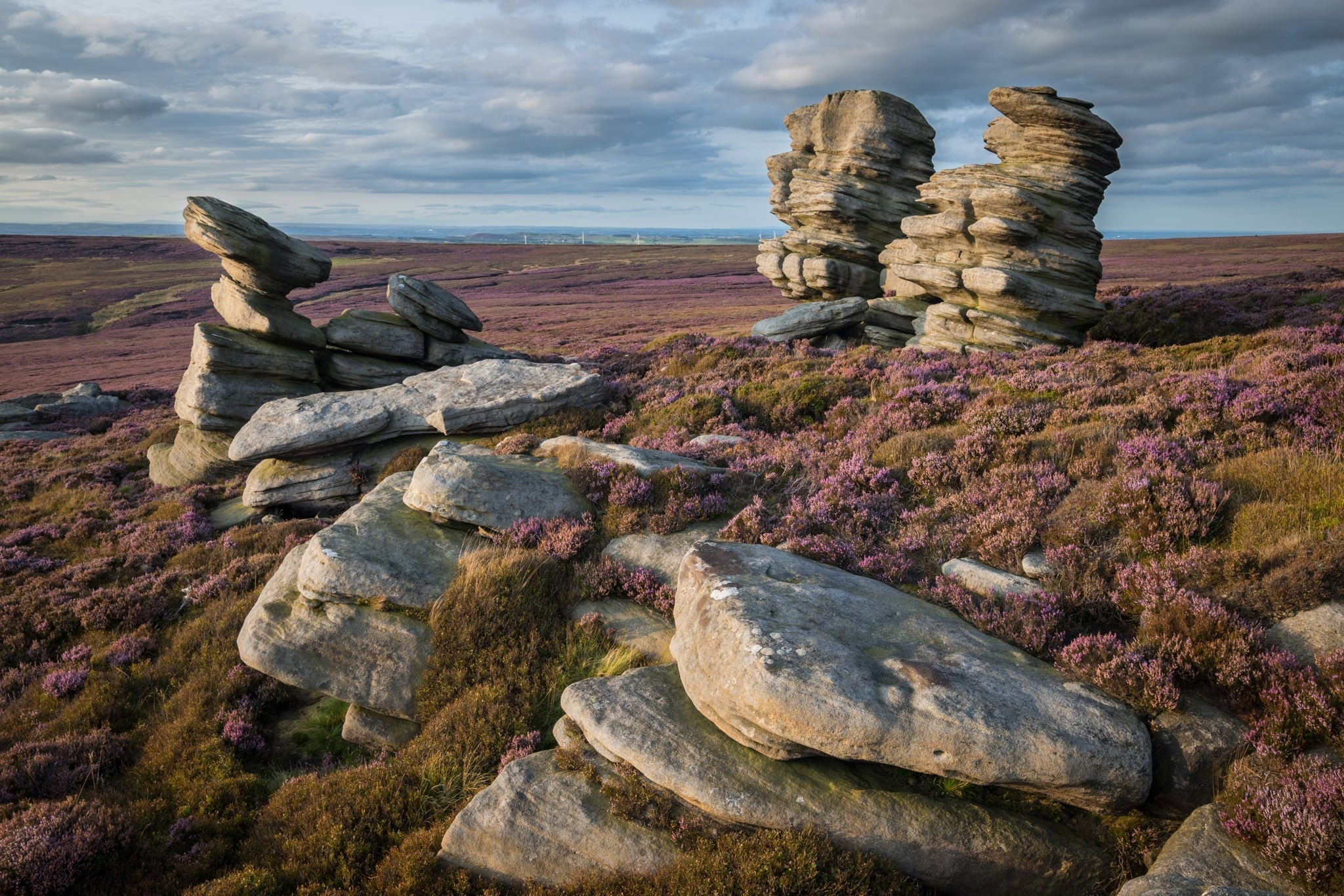 Rocking Stones and Crow Stones Sunset - Peak District Photography