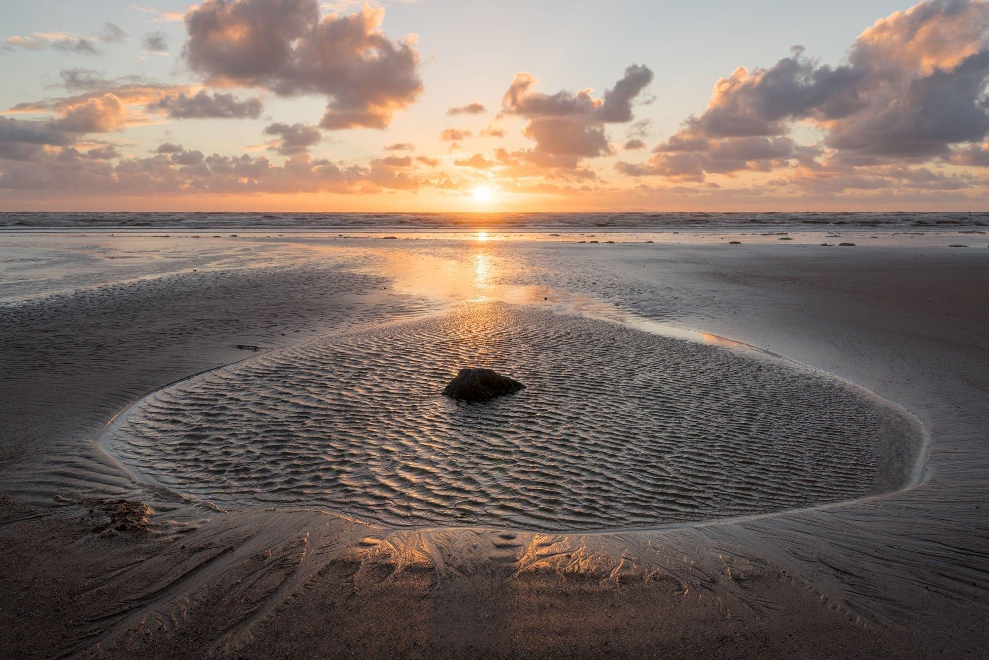 Seascale Sunset - Lake District Photography