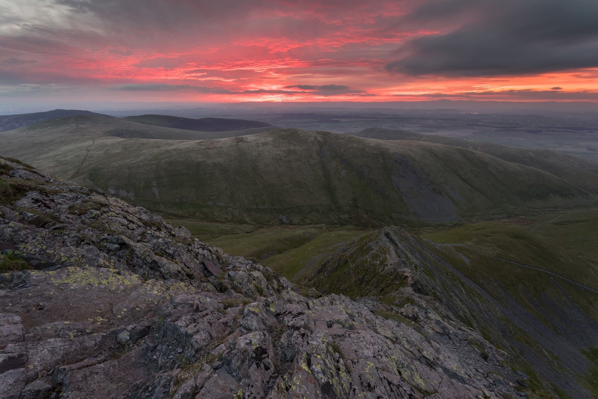 Sharp Edge Sunrise - Lake District Photography