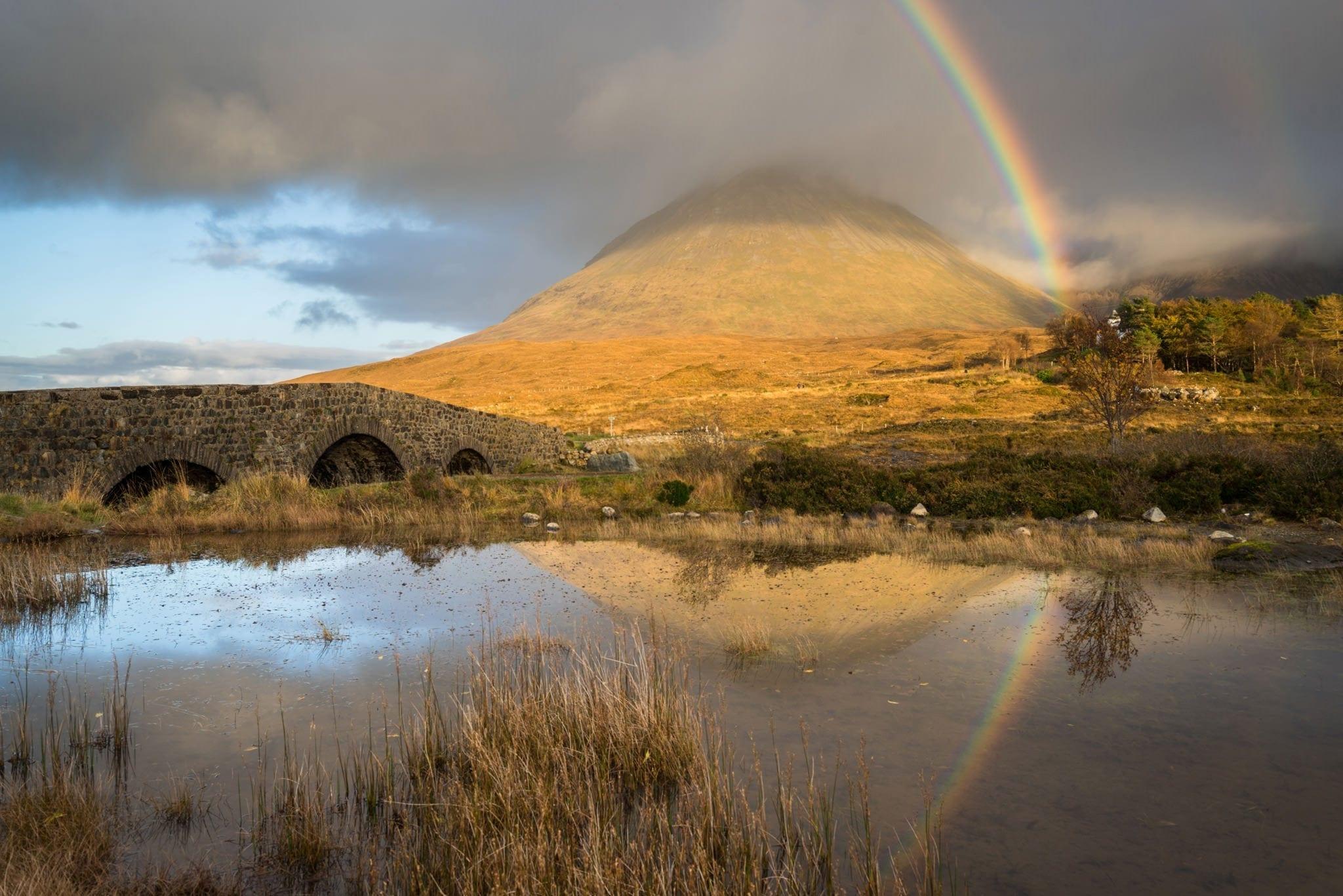 Sligachan Rainbow - Isle of Skye Photography