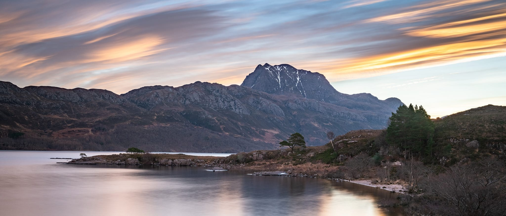 Slioch and Loch Maree Sunrise - Scotland Landscape Photography