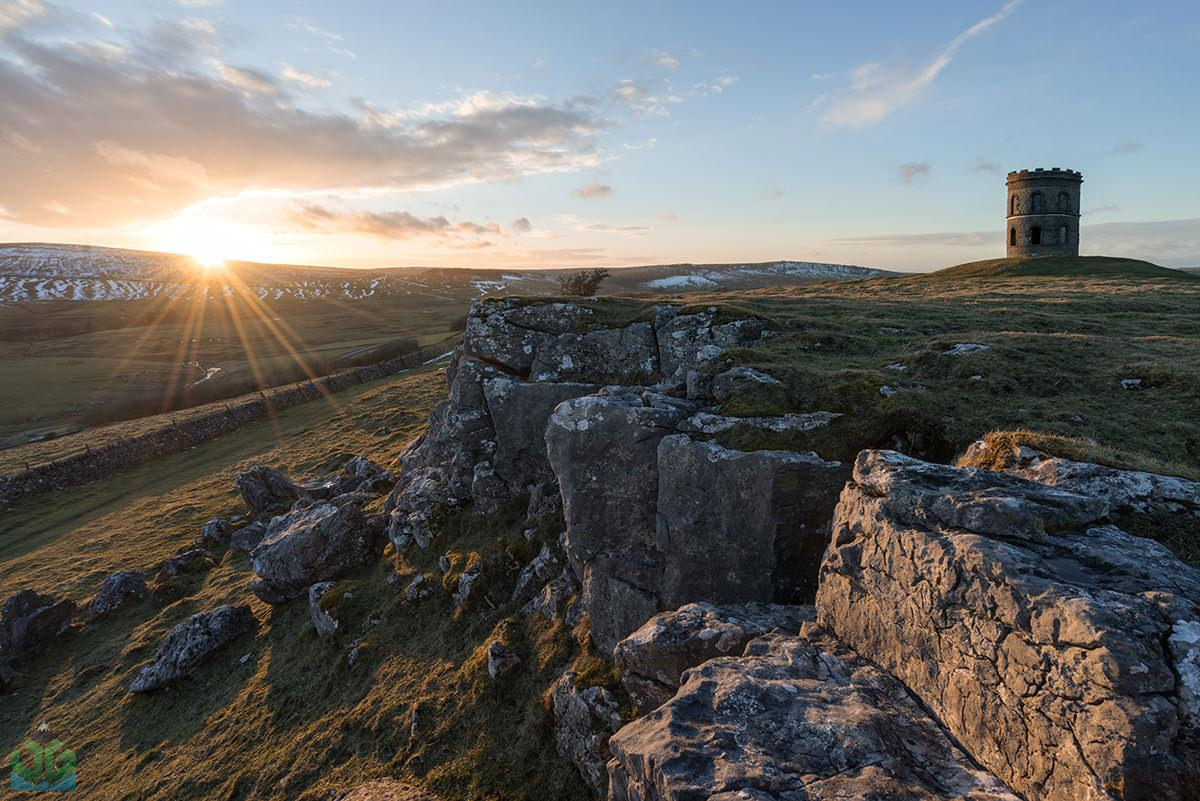 Solomons Temple Sunset - Peak District Photography