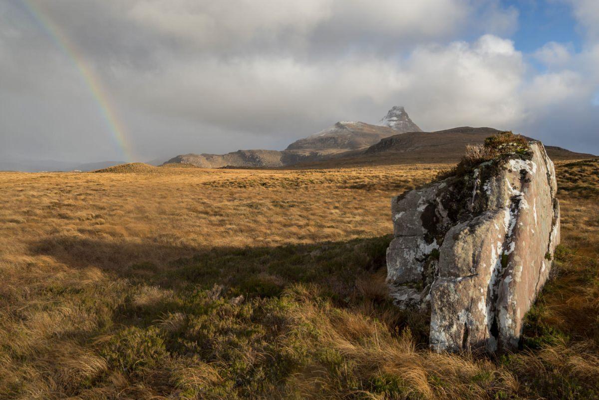 Stac Pollaidh Rainbow - Scotland Photography