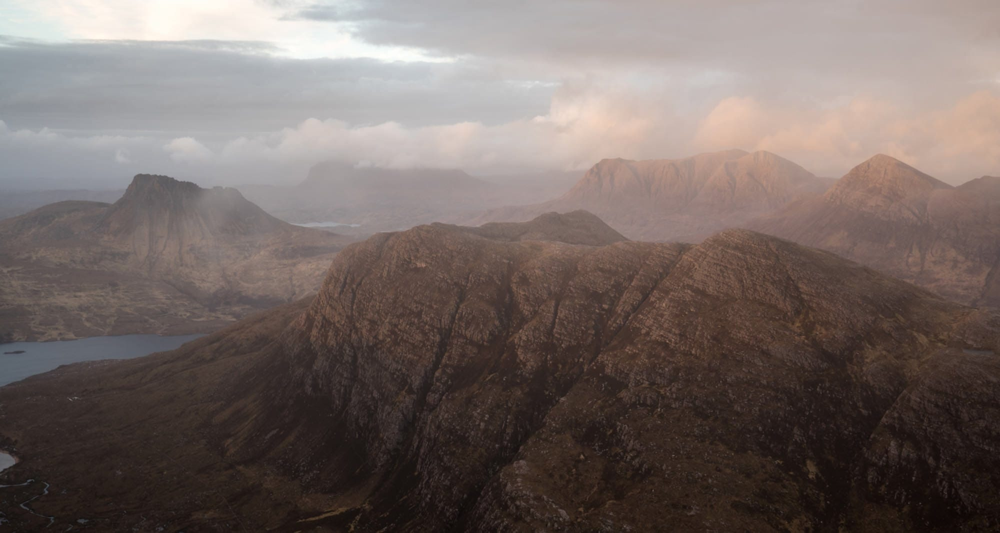 Stac Polliadh and Assynt from the Fiddler - Scotland Wild Camping Photography Workshop
