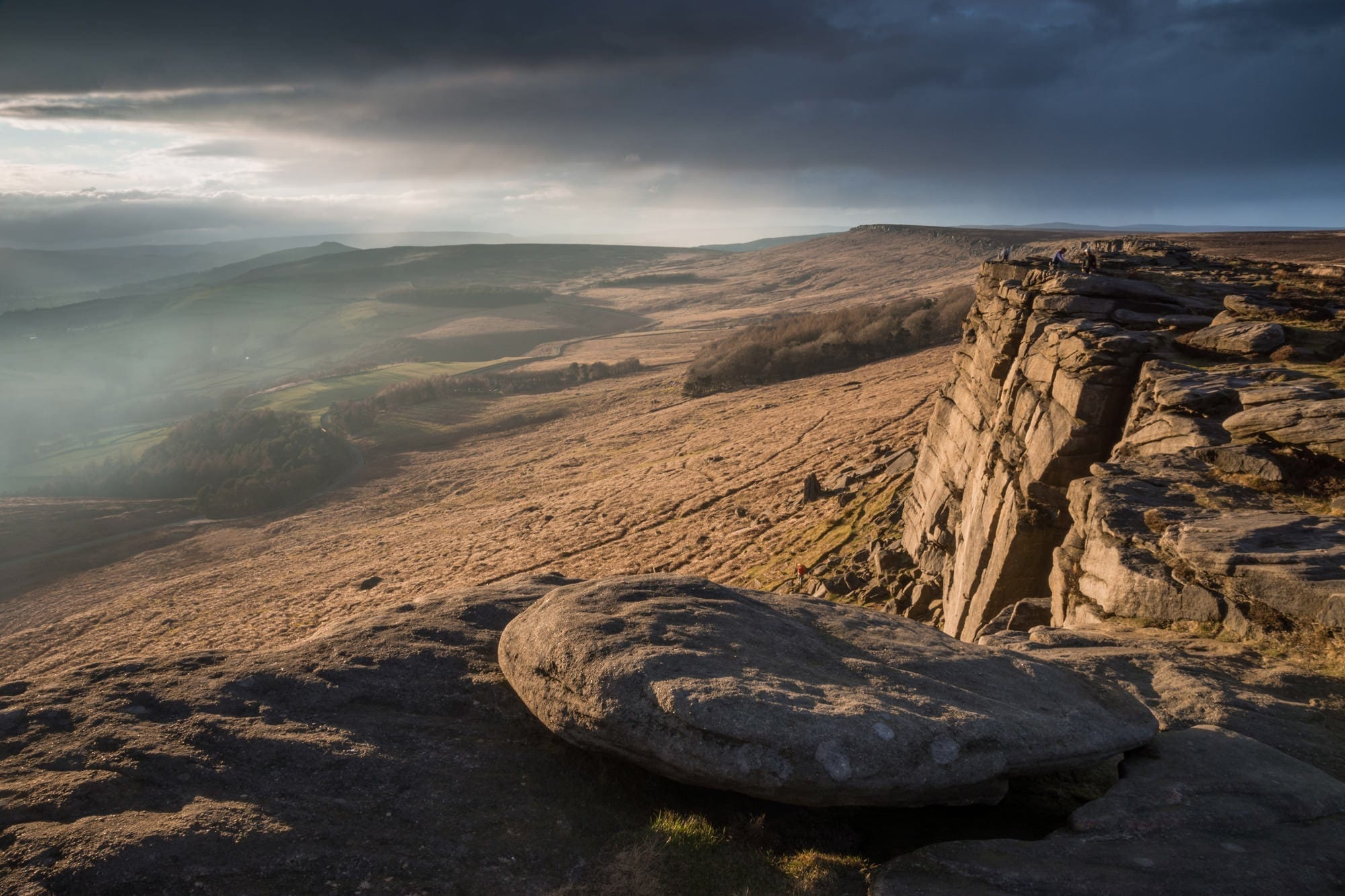 Stanage Edge Sunset - Peak District Through The Lens Photography Workshop